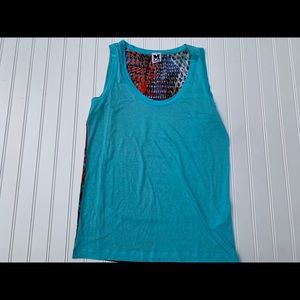 Missoni Turquoise Tank Top Viscose Flowy Medium